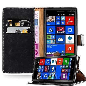 Cadorabo Hülle für Nokia Lumia 830 Case Cover - Handyhülle mit Magnetverschluss, Standfunktion und Kartenfach – Case Cover Schutzhülle Etui Tasche Book Klapp Style