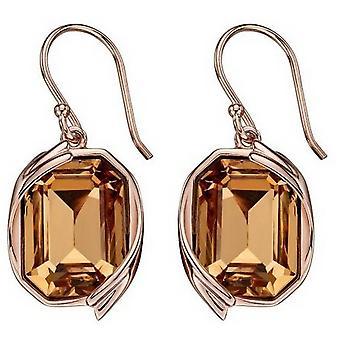Elemente Silber Swarovski Band Detail Ohrringe - Rose Gold/Gold