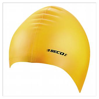 BECO Adult Silicone Swimming Cap- Yellow