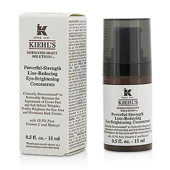 Kiehl ' s dermatologisk løsninger kraftig-styrke line-reduserende øye-lysere konsentrat-15ml/0.5 oz