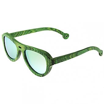 Spectrum Morrison Wood Polarized Sunglasses - Green/Green