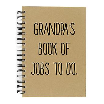 Grandpa's Book Of Jobs To Do A5 Kraft Notebook