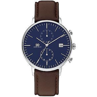 Design dinamarquês Black watch cronógrafo coleção TIDLØS IQ42Q975 - 3314506