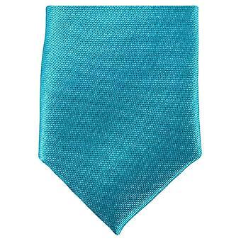 Knightsbridge Neckwear Skinny Polyester Tie - Light Turquoise
