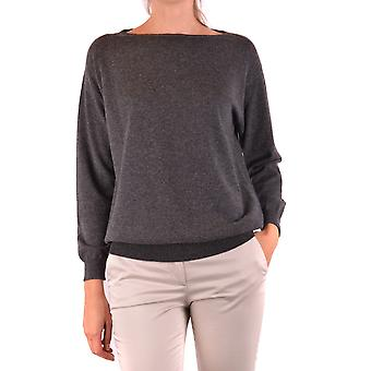 Brunello Cucinelli Ezbc002031 Women's Grey Cashmere Sweater