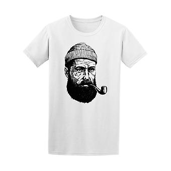 Bearded Sailor With Smoking Pipe Tee Men's -Image by Shutterstock