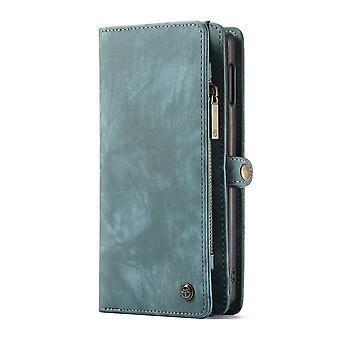 CASEME Samsung Galaxy S10e Retro leather wallet Case-Blue