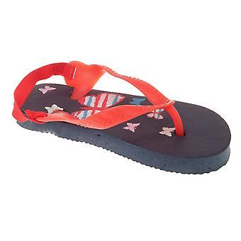 Sandrocks Childrens/Toddlers Butterfly Flip Flops