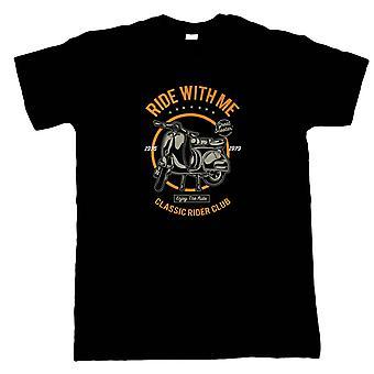 Fahrt mit mir Herren T-Shirt - Motorräder Geschenk ihm