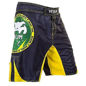 فينوم رجالي جميع الرياضة MMA التدريب مكافحة السراويل - أسود / أصفر