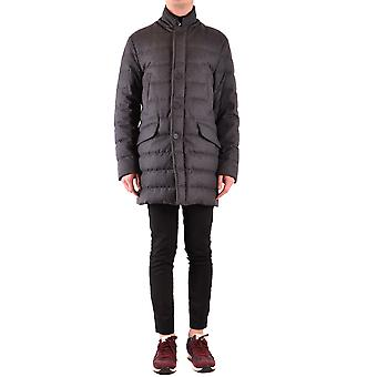 Moncler Ezbc014059 Men's Grey Nylon Outerwear Jacket