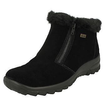 Futra damskie Rieker pokryte kostkę buty L7163