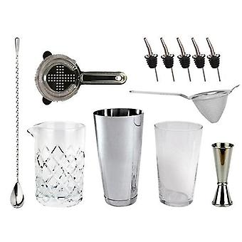 Bartender's Bar Kit with Boston Shaker & Glass