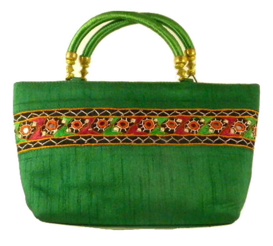Silk Handbag Divya 12 Silk Sauvage at Pashmina & Silk