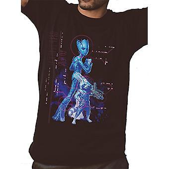 Avengers unisex vuxna Neon Infinity War Groot tryck T-shirt