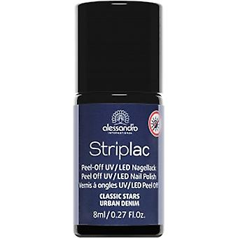 StripLAC Peel Off UV LED Classic Stars Nail Polish Collection - Urban Denim 8ml (912)