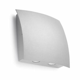 LED 1 Light Outdoor Large Wall Light Grey Ip64