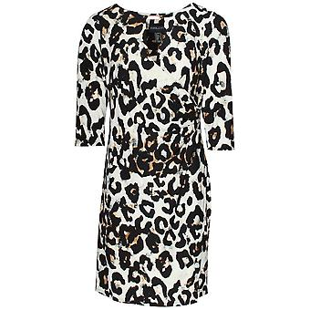 Frank Lyman Long Sleeve Leopard Print Dress