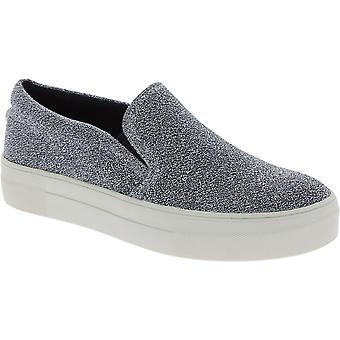 ستيف مادن أزياء زلة على الأحذية للنساء في النسيج الفني الفضة
