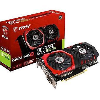MSI Gaming GPU Nvidia GeForce GTX1050 Ti Gaming X 4 GB GDDR5X RAM PCIe x16 HDMI™, DVI, DisplayPort