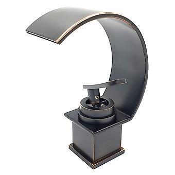 Basin Sink Designer Mixer Tap Cascade Effet cuivre noir Effet Single Handle