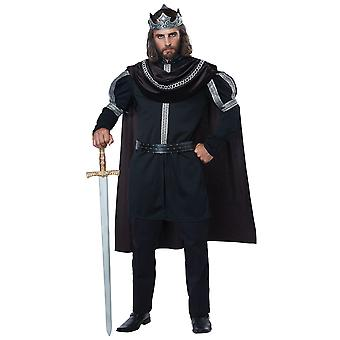 Dark Monarch Renaissance Medieval King Prince Gothic Fairytale Costume Homme