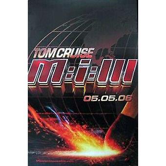 Auftrag: Impossible Iii (Doppelseitiger Vorschuss) Original Kino Poster