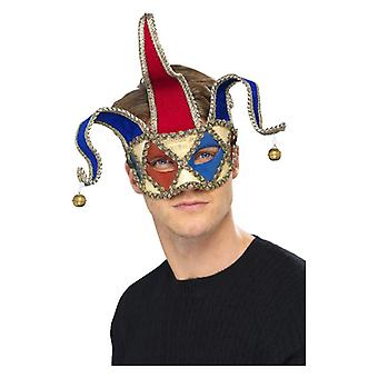 Mens Venetian Musical Jester Eyemask Fancy Dress Accessory