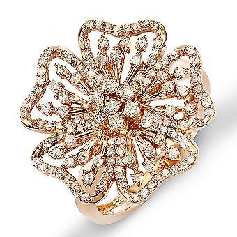 Dazzlingrock Collection 0.75 Carat (ctw) 14k Round Diamond Ladies Cocktail Ring 3/4 CT, Rose Gold