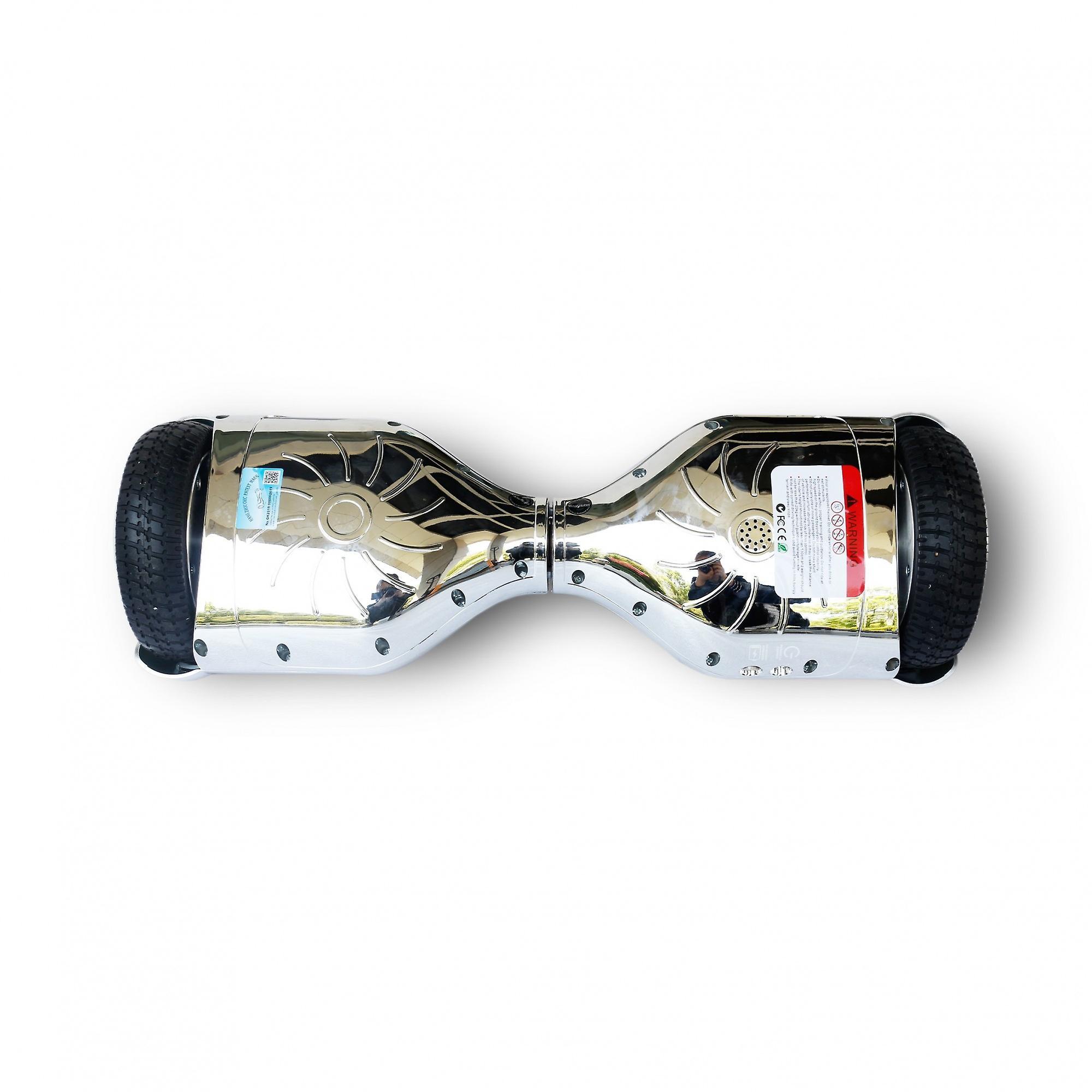 Hoverboard Skateflash K6 Chrome Silver Bluetooth + Transport Bag