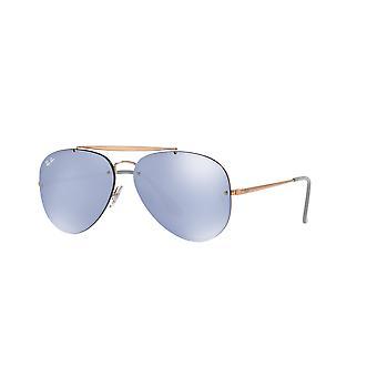 Ray-Ban Blaze Aviator RB3584N 9053/1U Okulary przeciwsłoneczne miedziane/niebieskie lustro