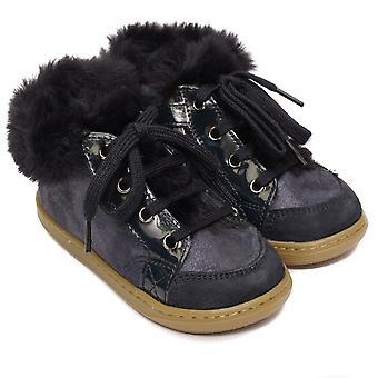 Shoo Pom od Pom D'Api Bouba Zip Hair Boots, Navy