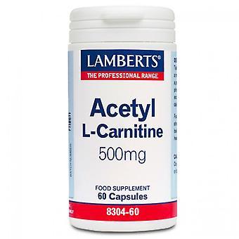 LAMBERTS acetyl L-karnitiini 500mg korkit 60 (8304-60)