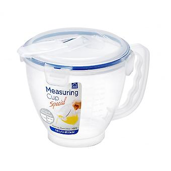 Lock & Lock 1 Litre Measuring Cup With Airtight Clip On Lid