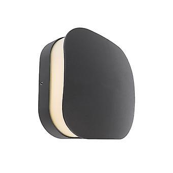 LED utvändig vägglampa Corvi III mörkgrå 160x160mm 3000K 10W