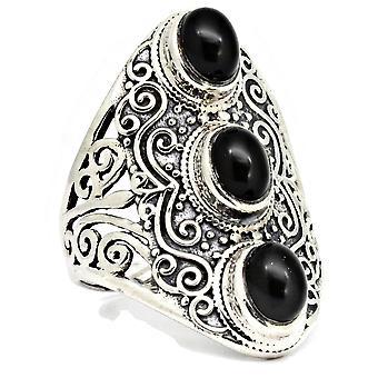 Ring 925 Silber mit Onyx 56 mm / Ø 17.8 mm (KLE-RI-030-03-(56))
