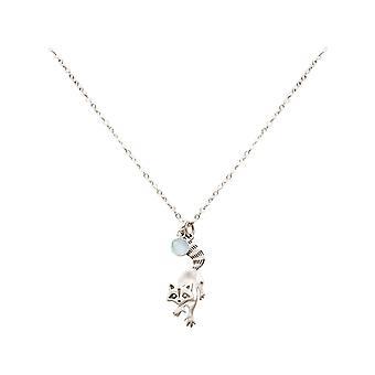 GEMSHINE vaskebjørn anheng 925 sølv, forgylt eller Rose med chalcedony