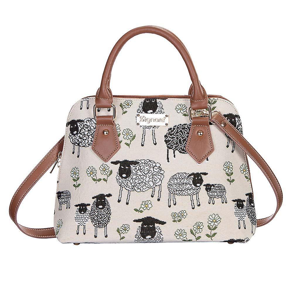 Spring lamb top-handle shoulder bag by signare tapestry / conv-splm