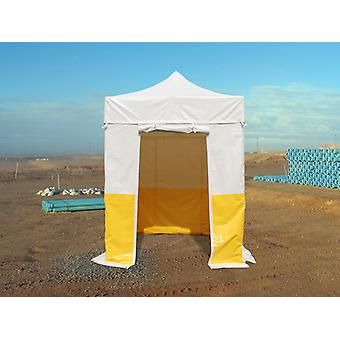 Carpa plegable  FleXtents® PRO 2x2m, PVC, Carpa de trabajo, Ignífuga, 4 muros laterales incluidos