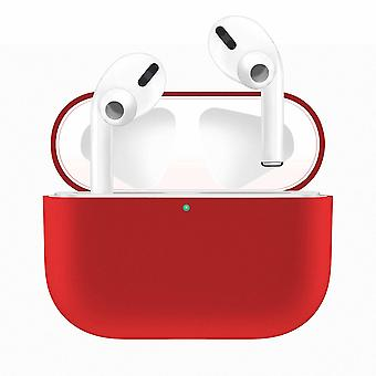 Apple Airpods PRO Red için silikon kabuk kılıfı