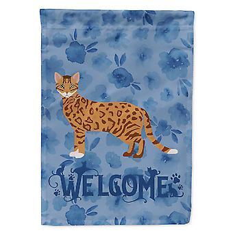 Carolines Treasures CK4852CHF Cheetoh #1 katt velkommen flagg Canvas huset størrelse