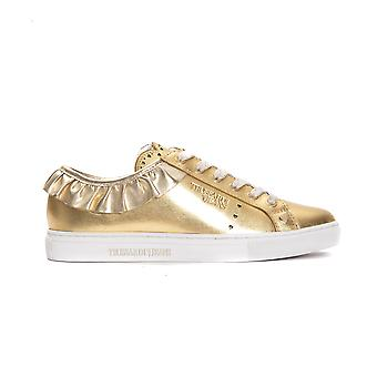 Women's Trussardi Gold Sneakers