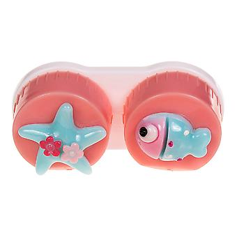 Pink Fish Contact Lens Case