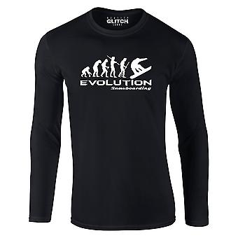 Reality glitch evolution of snowboarding mens t-shirt - long sleeve