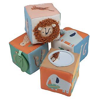 Sebra - soft baby blocks - wildlife