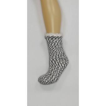 Cuddl Duds Women's Sherpa Lined Cabin Socks Gray A344017