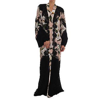 Dolce & Gabbana Foral Spitze Pfingstrosen Kaftan Abaya Kleid
