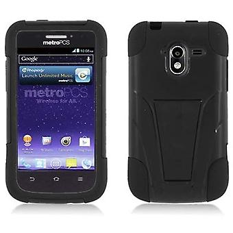 Aimo Durable Rugged Hybrid Case for ZTE Avid 4G N9120 - Black