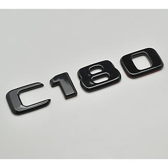 Gloss Black C180 Flat Mercedes Benz Car Model Rear Boot Number Letter Sticker Decal Badge Emblem For C Class W202 W203 W204 W205 AMG