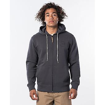 Rip Curl Miehet&s Zip Fleece ~ Eco Craft pesty musta